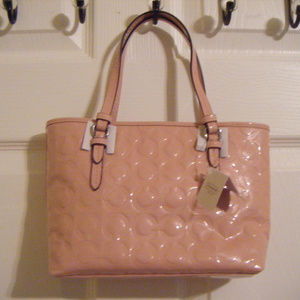 Coach Bags - Coach Peyton Op Art Embossed Patent Leather Bag